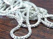 "20"" Silver Box Chain 925 Silver 2.7g"